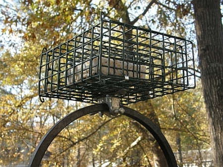 Caged Suet Feeder horizontal mount